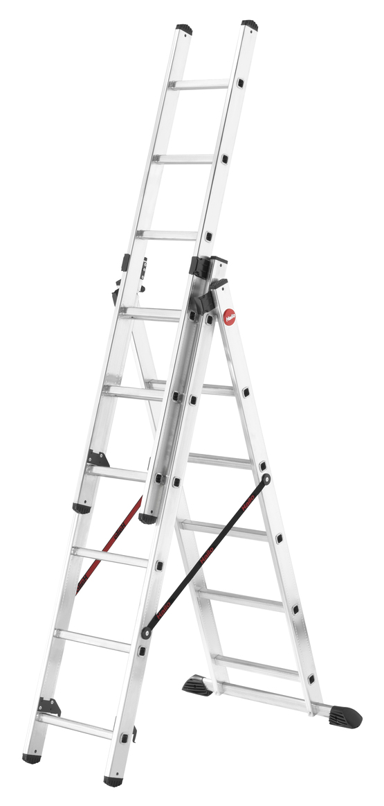 Hailo ProfiStep Combi - Aluminium Combination 3x6 Rungs Ladder HLO-7306-001