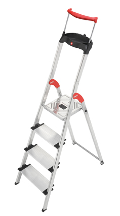 Hailo ComfortLine XXR - EasyClix - Aluminium Safety Household 4 Steps Ladder HLO-8030-401