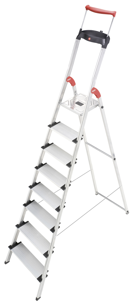 Hailo ComfortLine XXR - EasyClix - Aluminium Safety Household 8 Steps Ladder HLO-8030-801