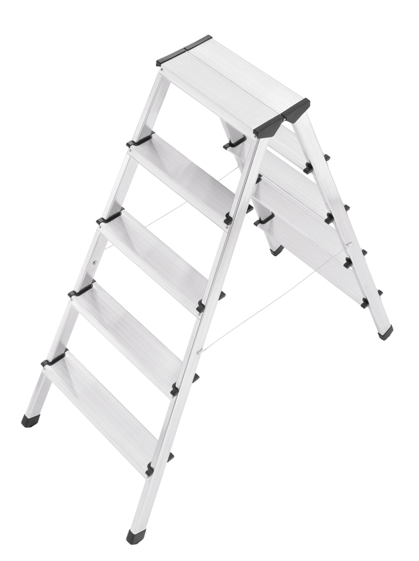 Hailo L90 - Aluminium Safety Household Double Sided 2x5 Steps Ladder HLO-8655-001