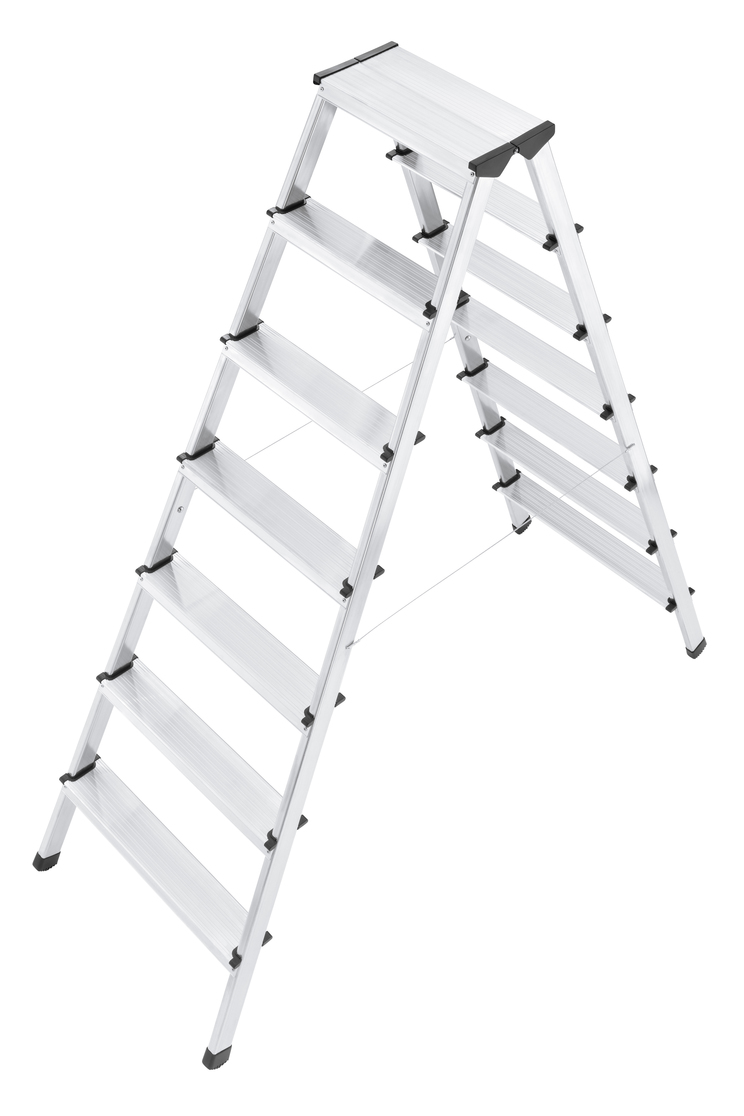 Hailo L90 - Aluminium Safety Household Double Sided 2x7 Steps Ladder HLO-8657-001