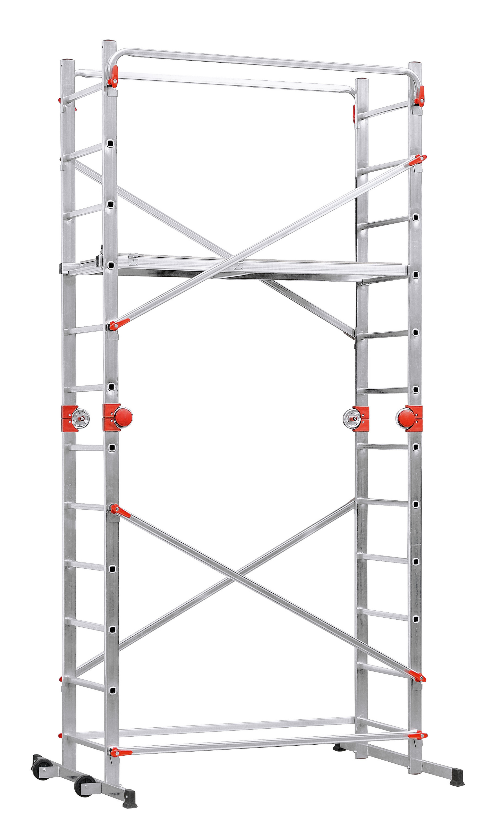 Hailo Aluminium Multifunction  Scaffold + Ladder Combination - 2x12 Rungs HLO-9459-501