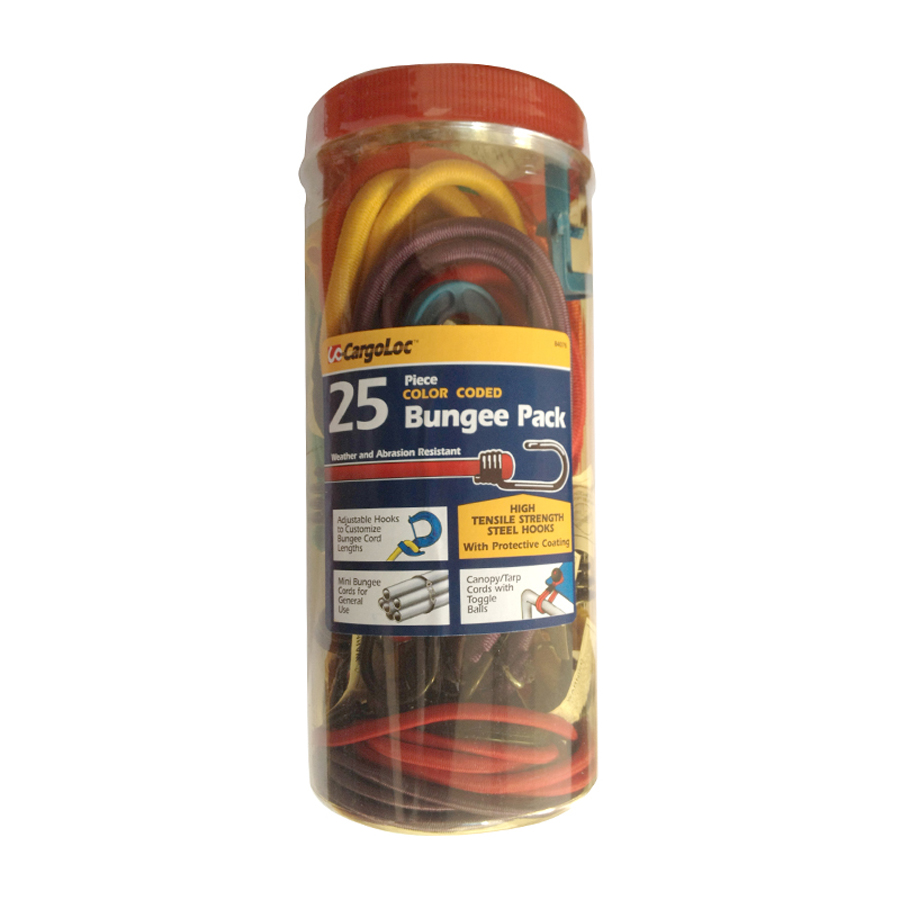 Cargoloc 25Pc Color Coded Bungee Pk CGL-84076