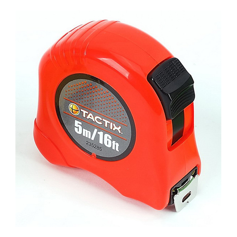 Tactix Tape Measure 5 m - 16 feet x 19 mm - 3/4 Inch TTX-235285