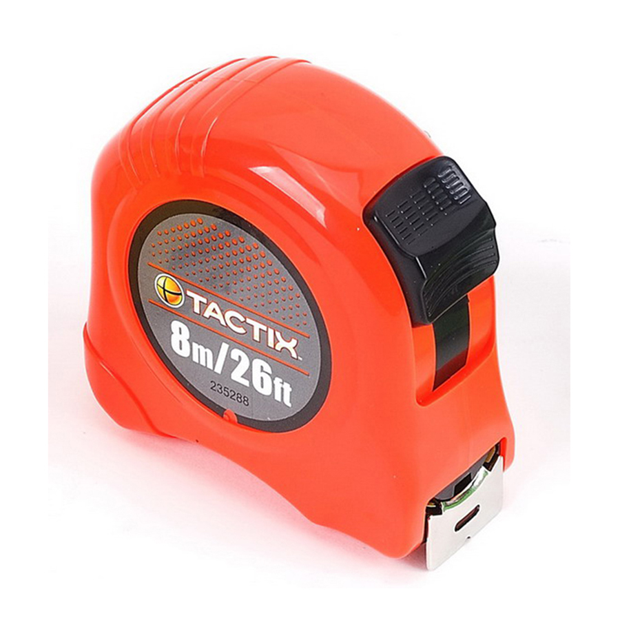 Tactix Tape Measure 8 m - 26 feet x 25 mm - 1 Inch TTX-235288