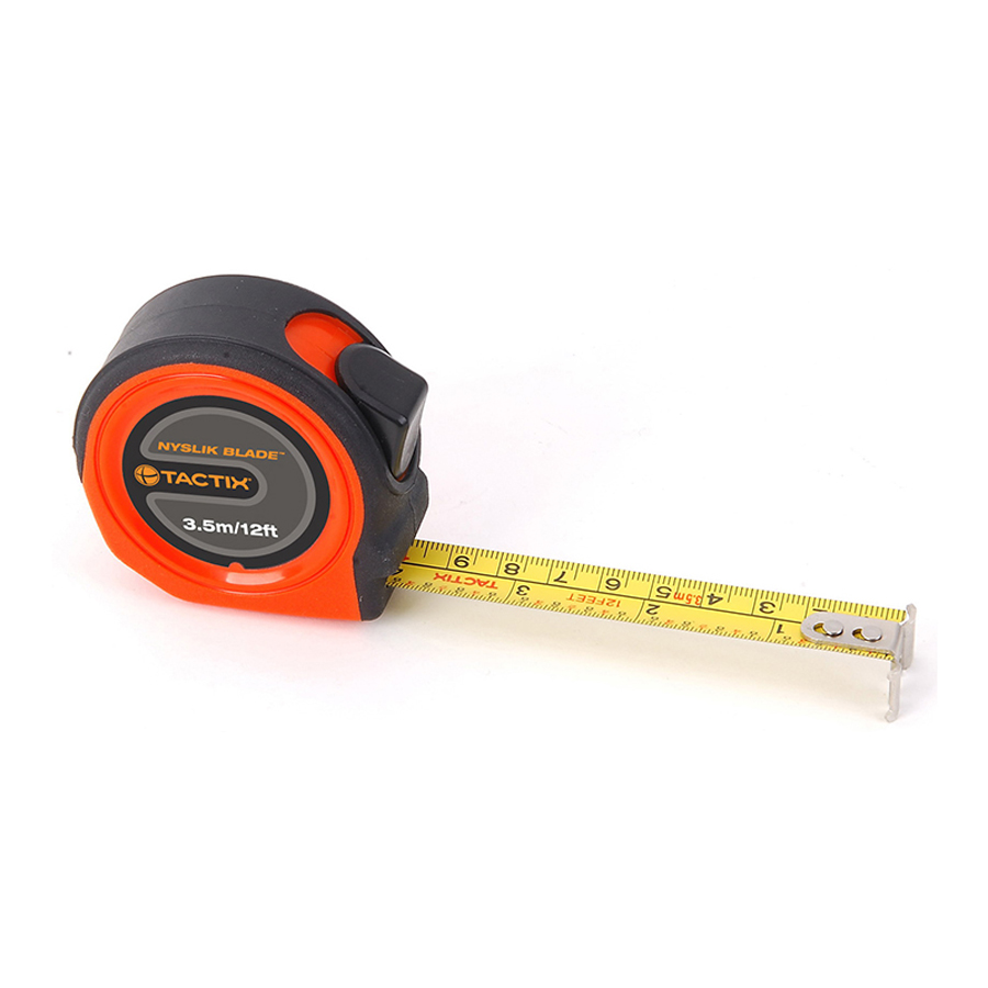 Tactix Tape Measure 3.5 m - 12 feet x 16 mm Nyslik TTX-235381