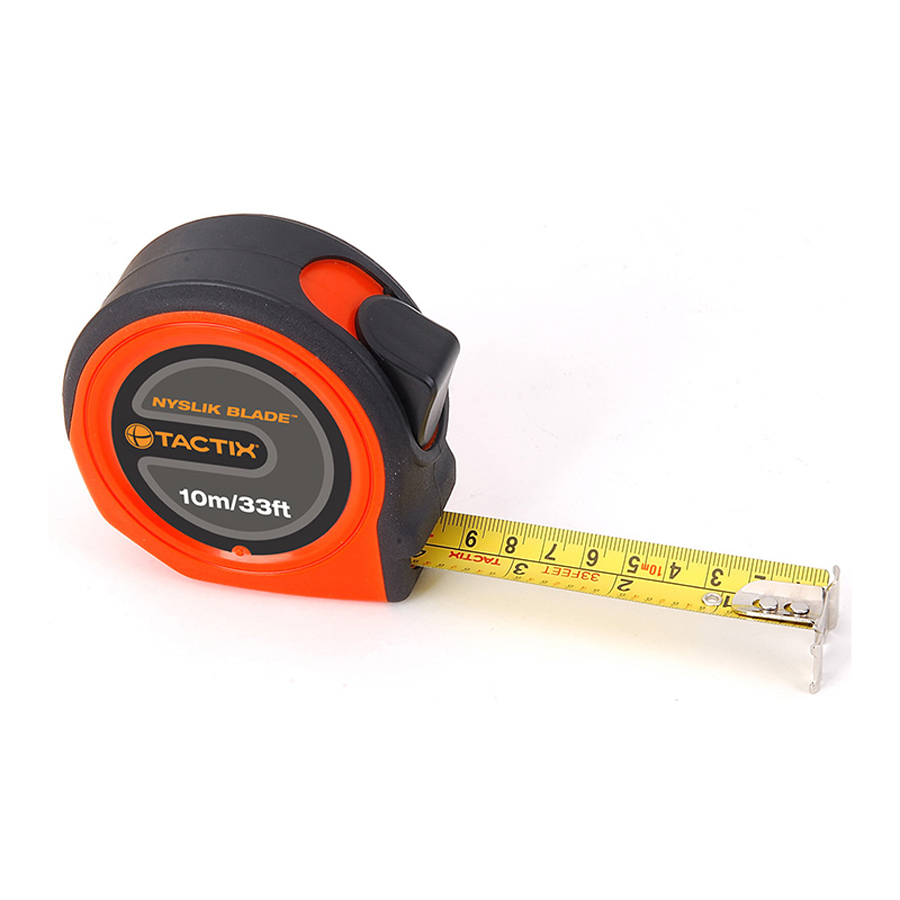 Tactix Tape Measure 10 m - 33 feet x 25 mm Medium TTX-235387