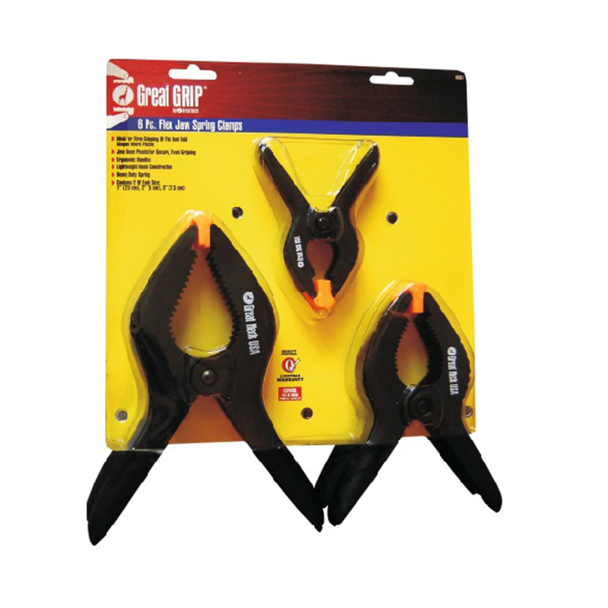 Great Neck 6 Piece Flex Jaw Spring Clamps – GNK-66001